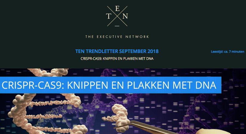 TEN TRENDLETTER SEPTEMBER 2018 – CRISPR-CAS9