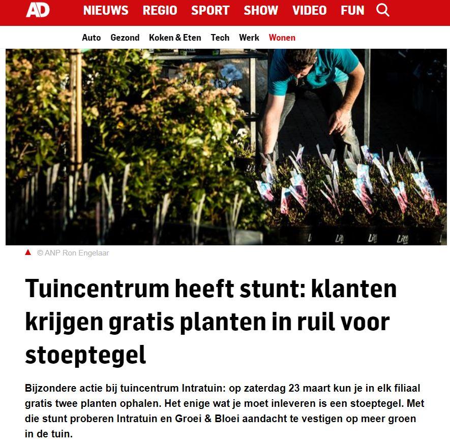 Intratuin x Blyde Benelux: Biodiversiteit Nederland - vergroenen