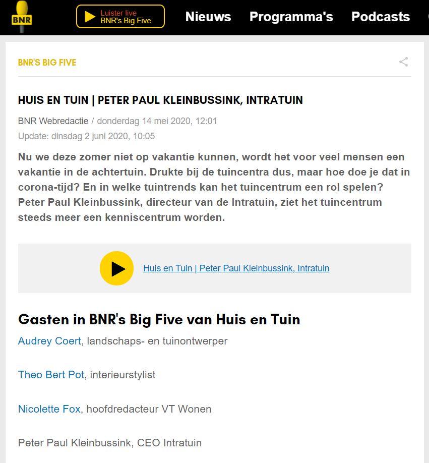 Intratuin x Blyde Benelux: BNR