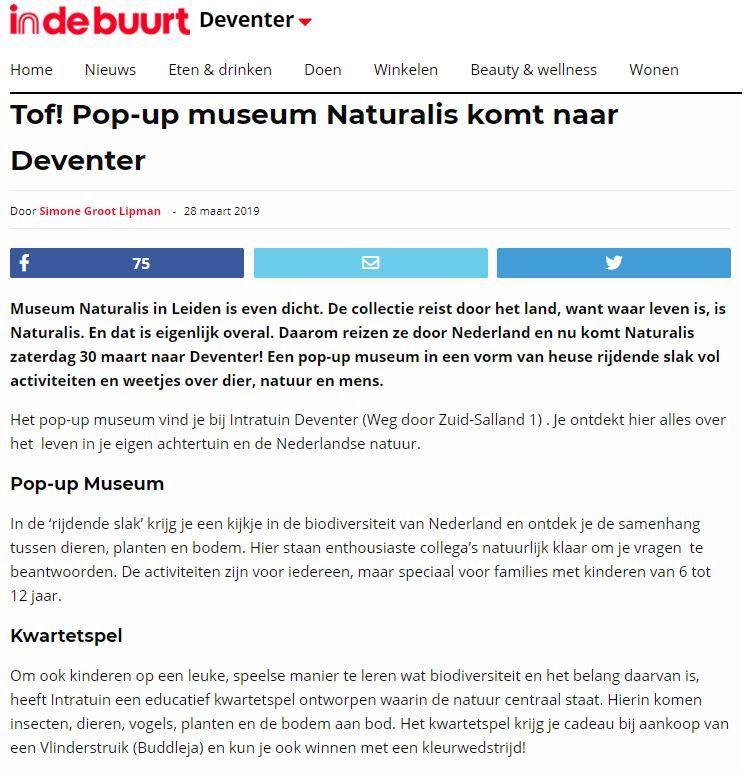 Intratuin x Blyde Benelux: Biodiversiteit in Nederland