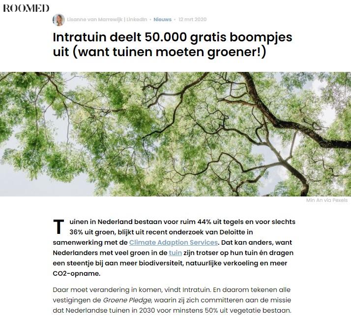Intratuin x Blyde Benelux: Boomplantdag
